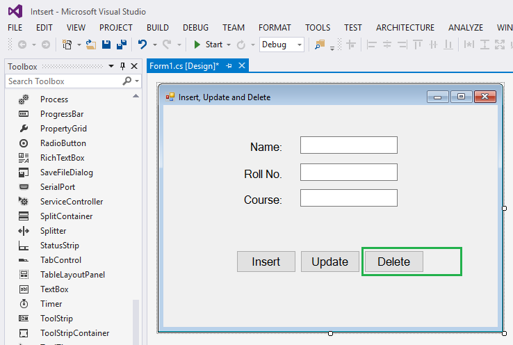 How to delete data in windows application C#  net - Campuslife