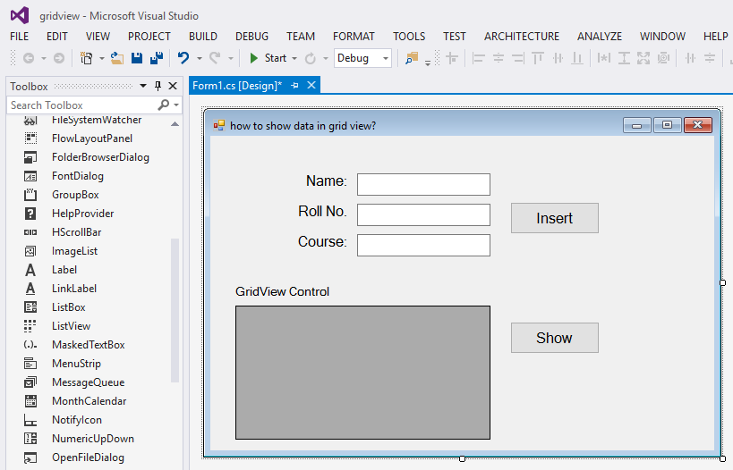How to show data in gridview C#  net - Campuslife